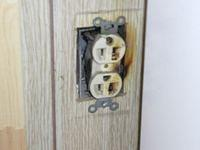 Burned Electrical Outlet
